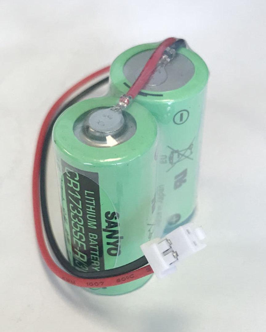 SANYO 2CR17335SE-R MR-J4BAT MR-BAT6V1 PLC Battery with Plug image 0