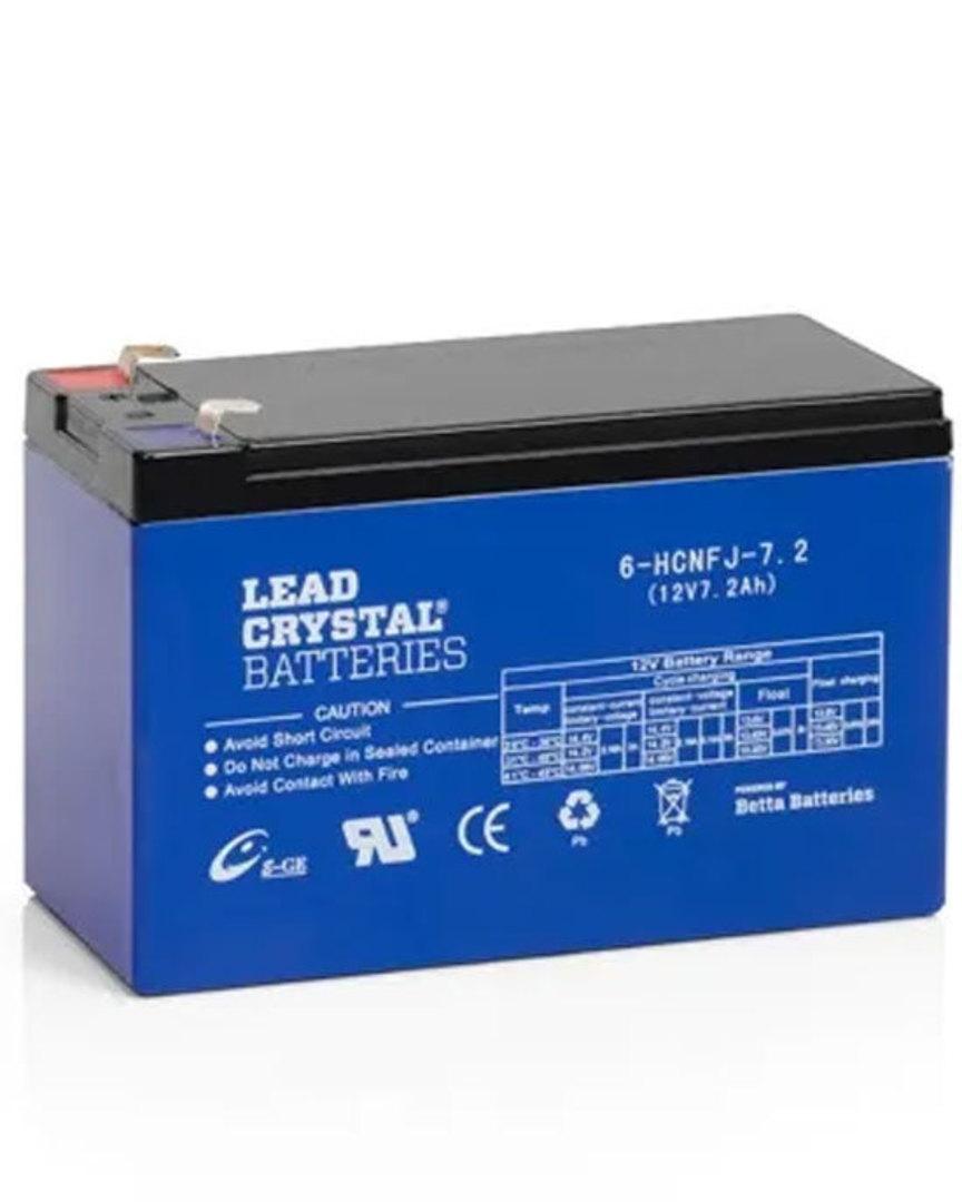 Lead Crystal 6-HCFJ-7.2 SLA 12V 7.2AH Battery image 0