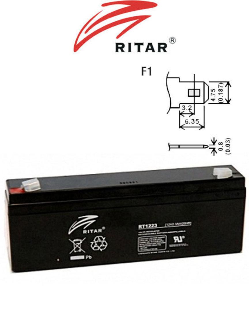 RITAR RT1223 12V 2.3AH SLA battery image 0