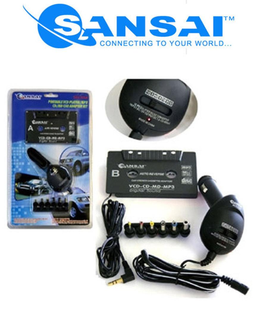 SANSAI Cassette Adaptor with Multi Voltage Adaptor image 0