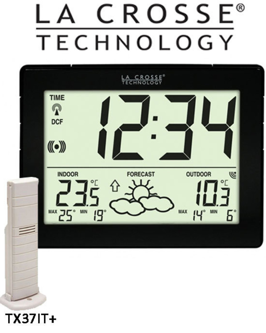 WS9180IT La Crosse Compact Wall Clock Weather Station image 0