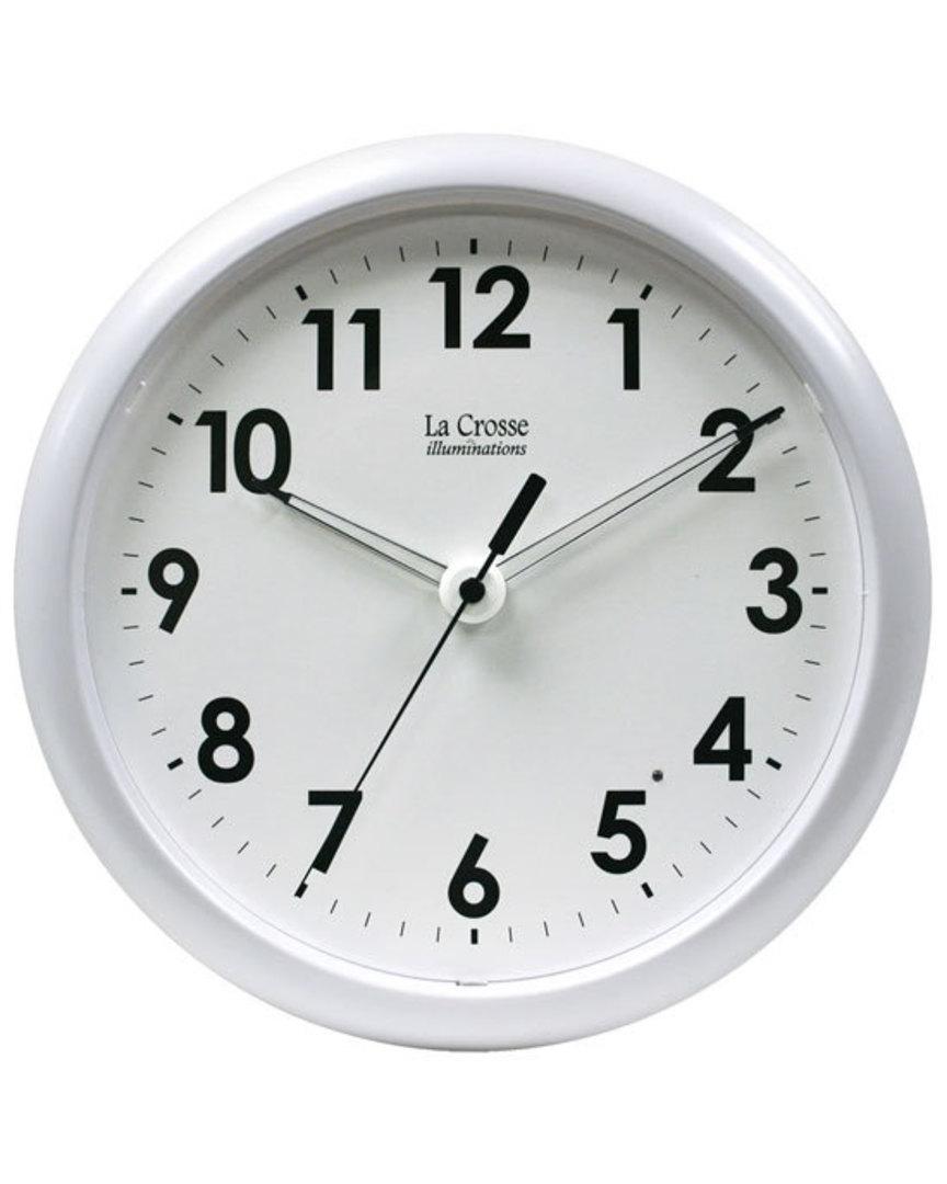 403-310 La Crosse Analog Wall Clock with Night Sensor image 0