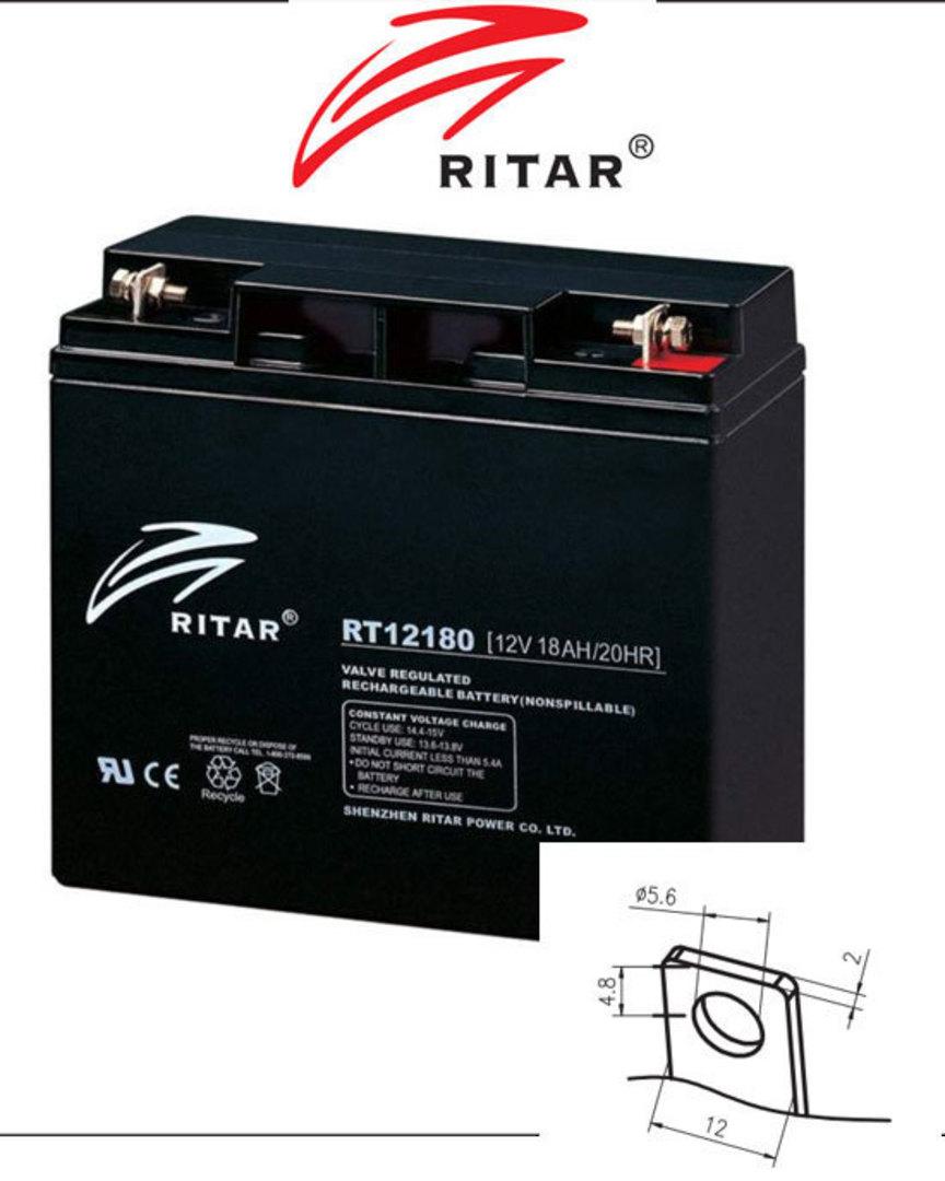 RITAR RT12180 12V 18AH SLA battery F3 Plug image 1