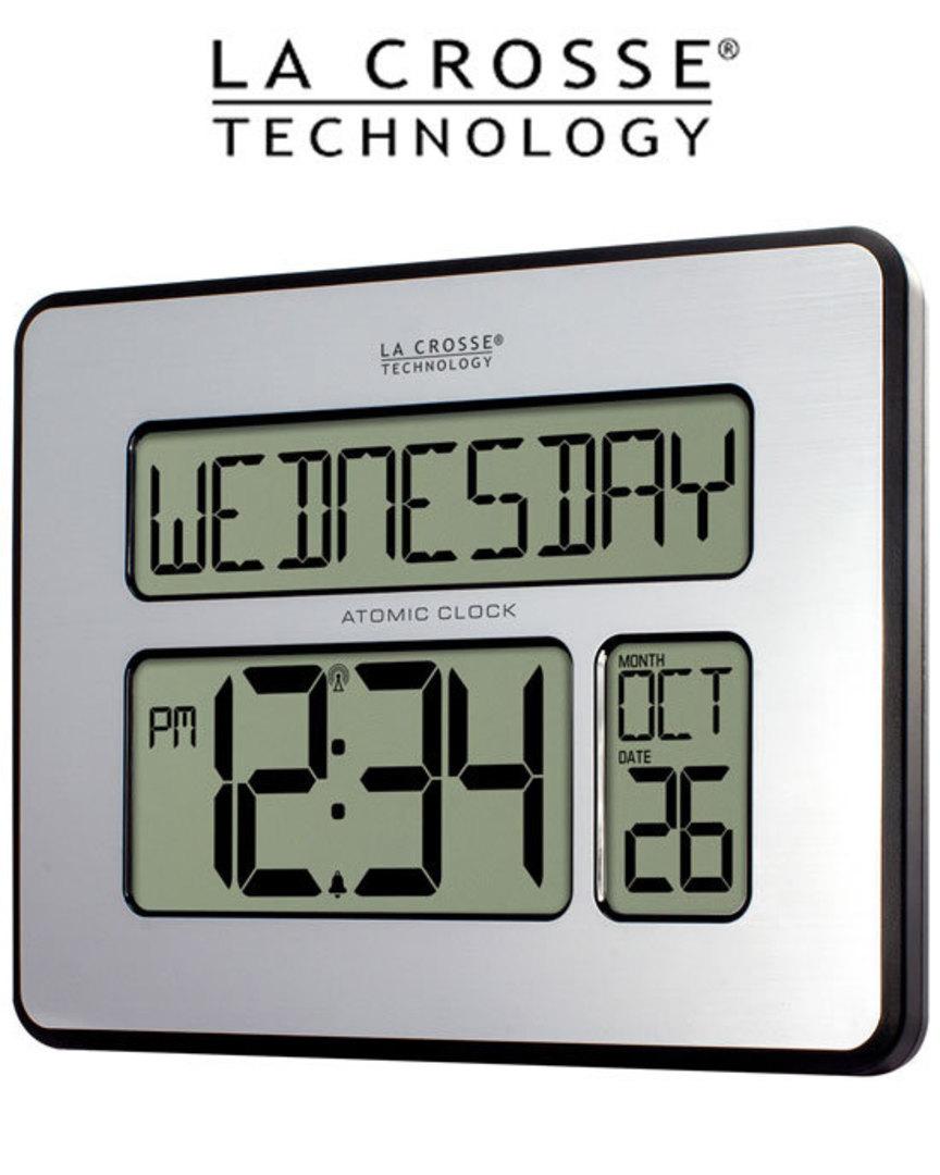 513-1419 La Crosse Digital Wall Clock with Day Display image 0