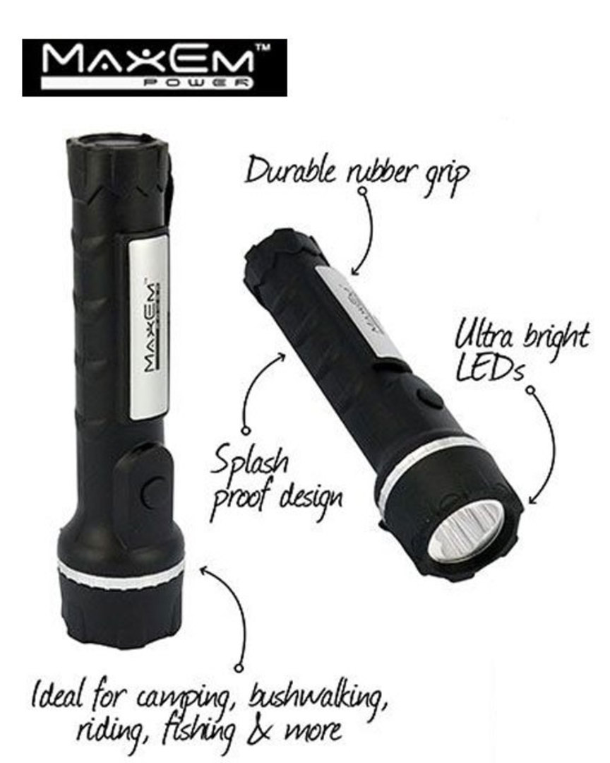 MAXEM 3 LED Heavy Duty Rubber Torch 3PCS image 0