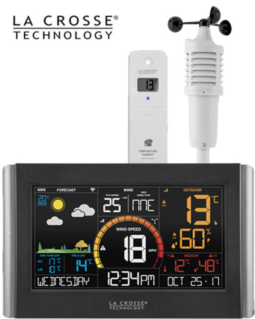 V21-WTH La Crosse WIFI Wind Speed Colour Weather Station image 0