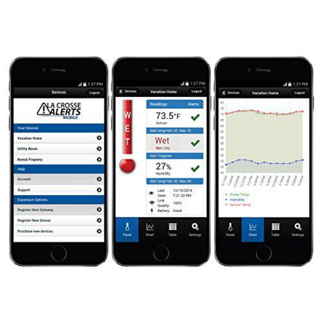 926-25104 La Crosse Alert Temp & Humidity Water Leak Detector image 3