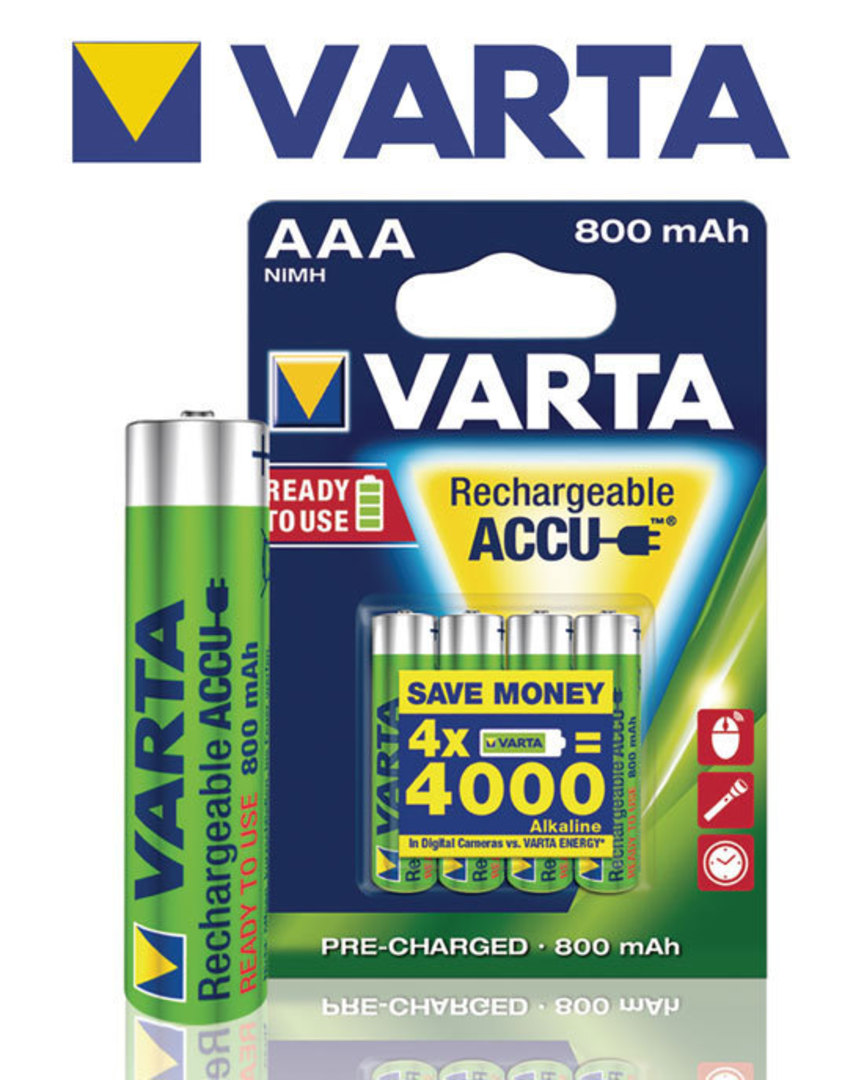 VARTA Rechargeable Accu Pre-Charged AAA 800mAh image 2