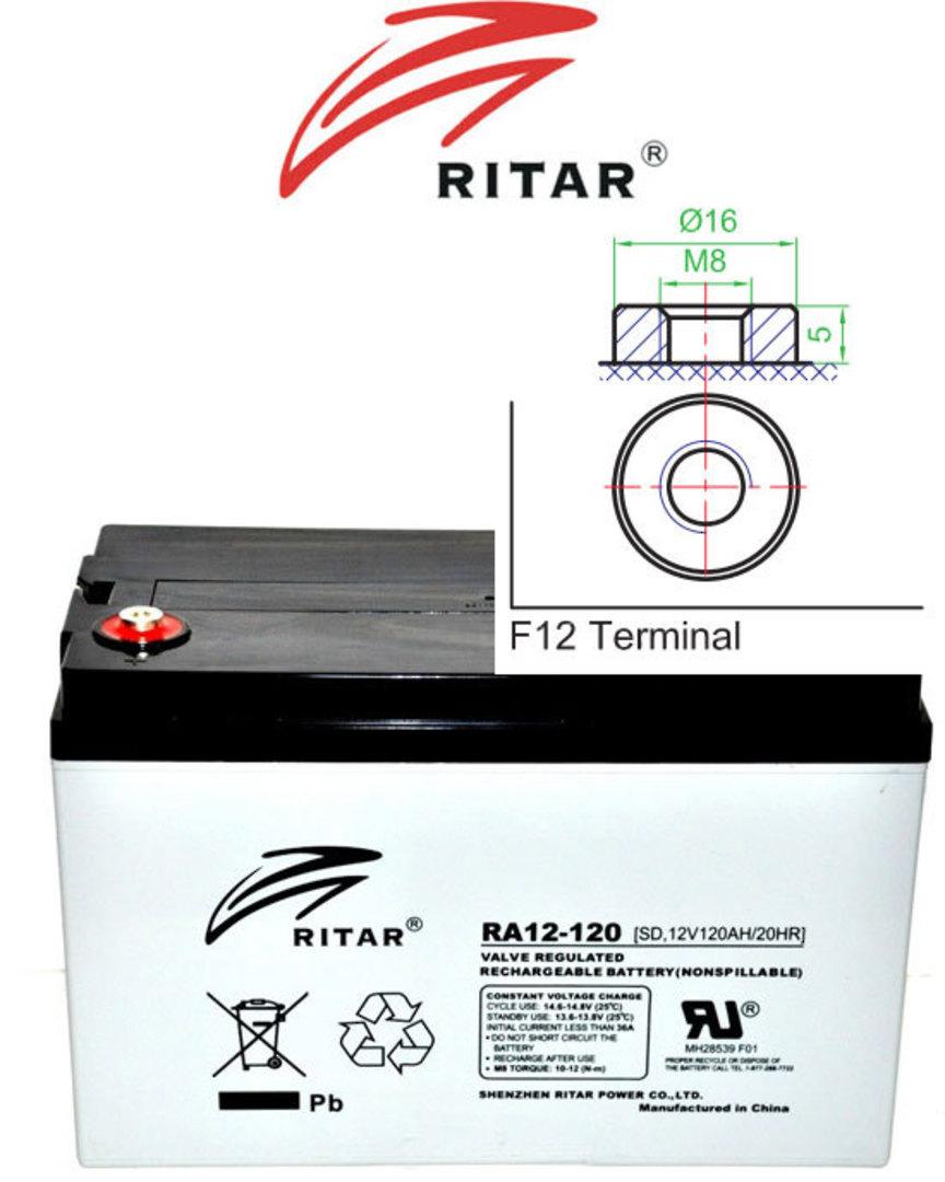 RITAR RA12-120S 12V 120AH SLA Battery image 0