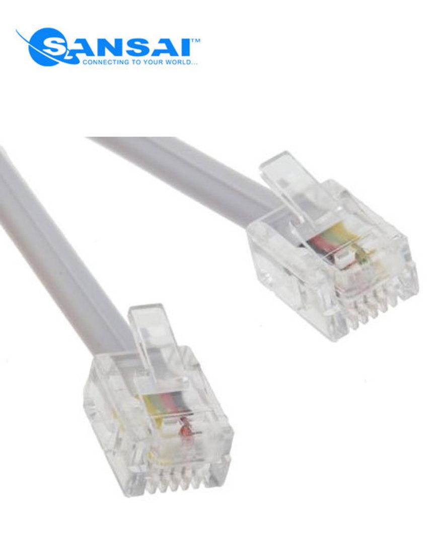 SANSAI Rj11 Telephone Cable 25m image 0