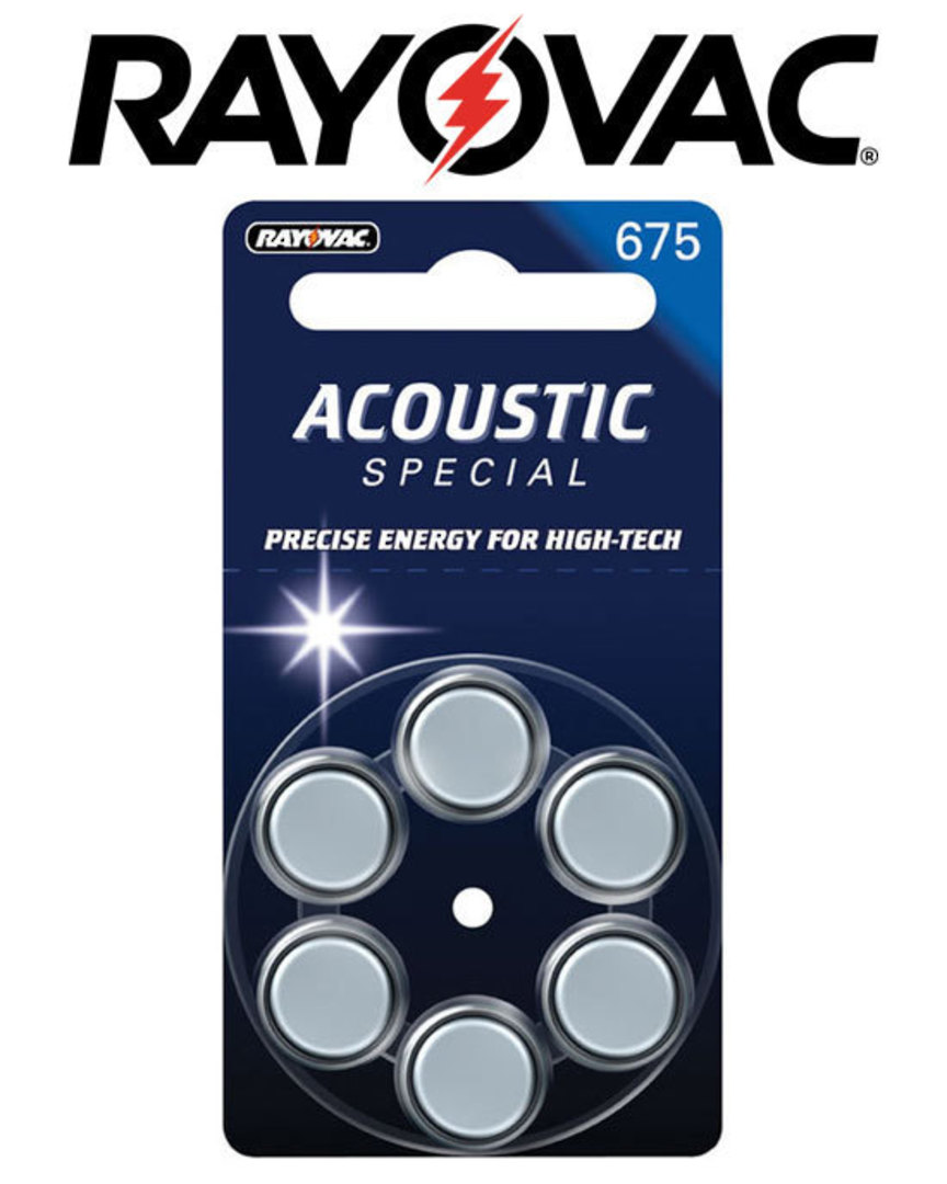 RAYOVAC Size 675 PR44 Hearing Aid Batteries image 0