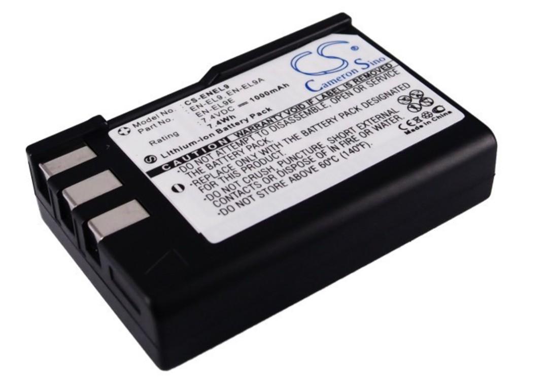 NIKON EN-EL9 ENEL9 ENEL9A Camera Battery image 0
