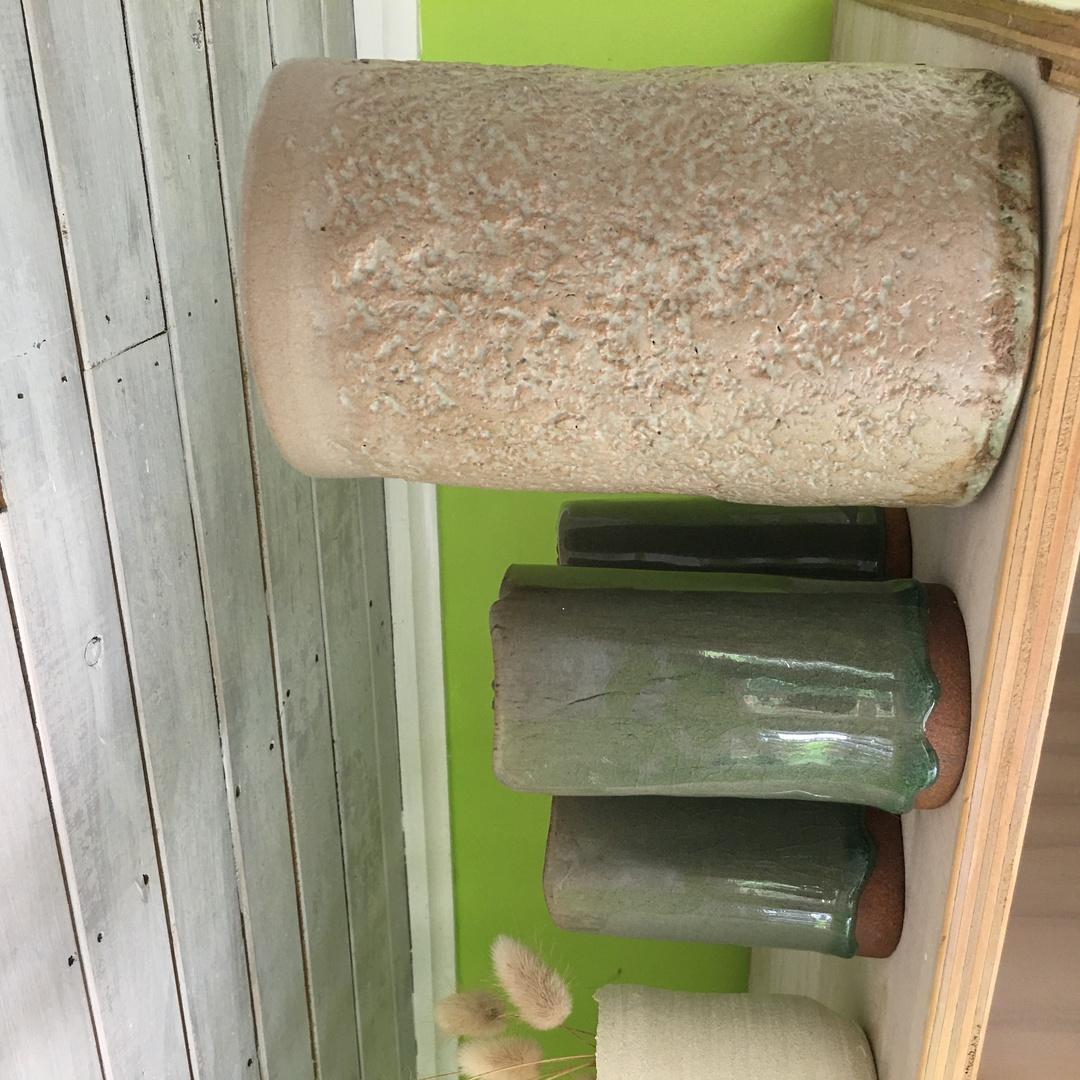 Glazed Red Stoneware Arrangement Vase image 6