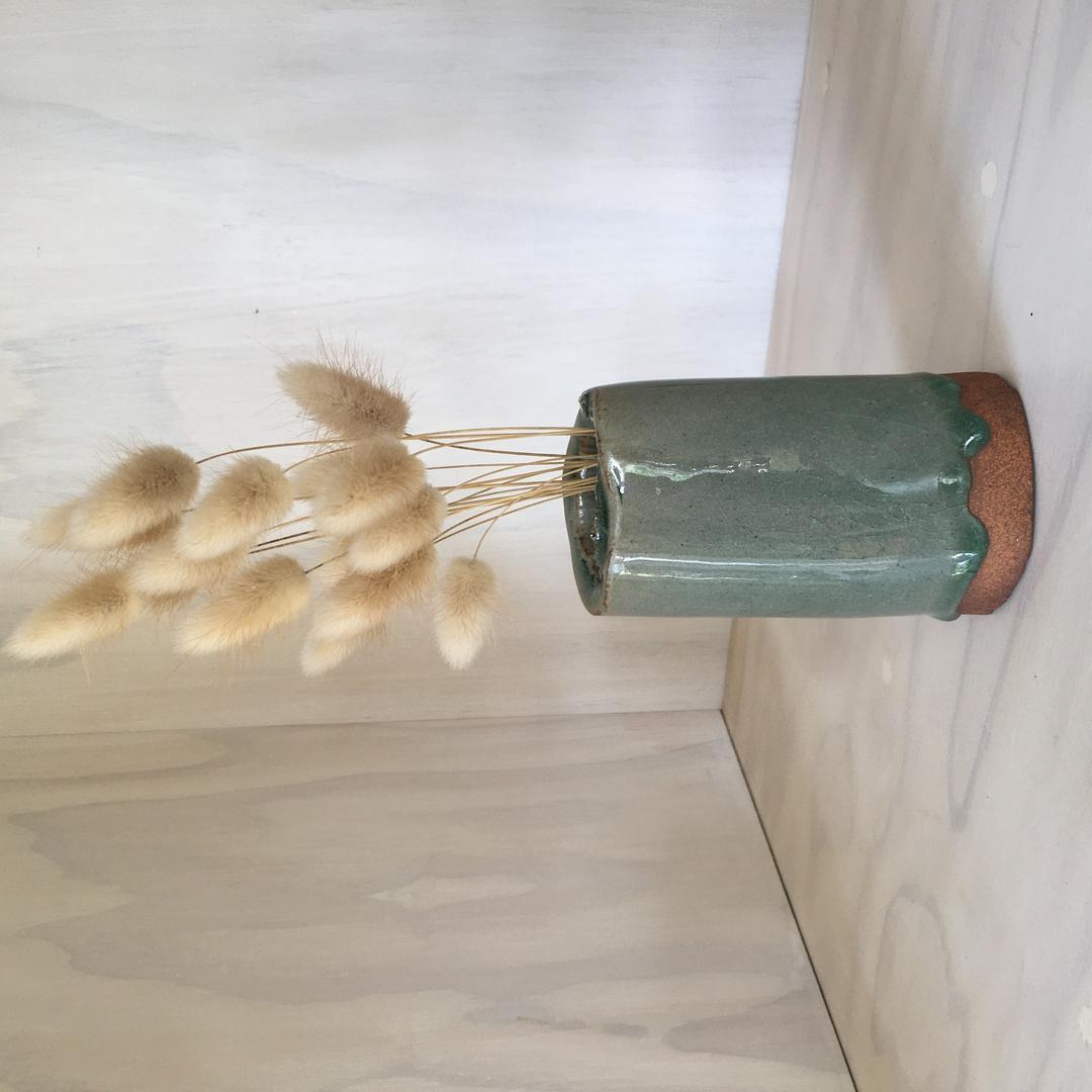 Glazed Red Stoneware Arrangement Vase image 4