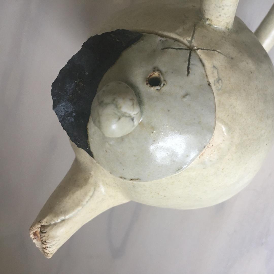 Stoneware teapot with kilnware image 3