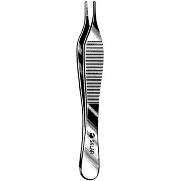 SKLAR Adson Forceps Delicate Serrated 12cm image 0