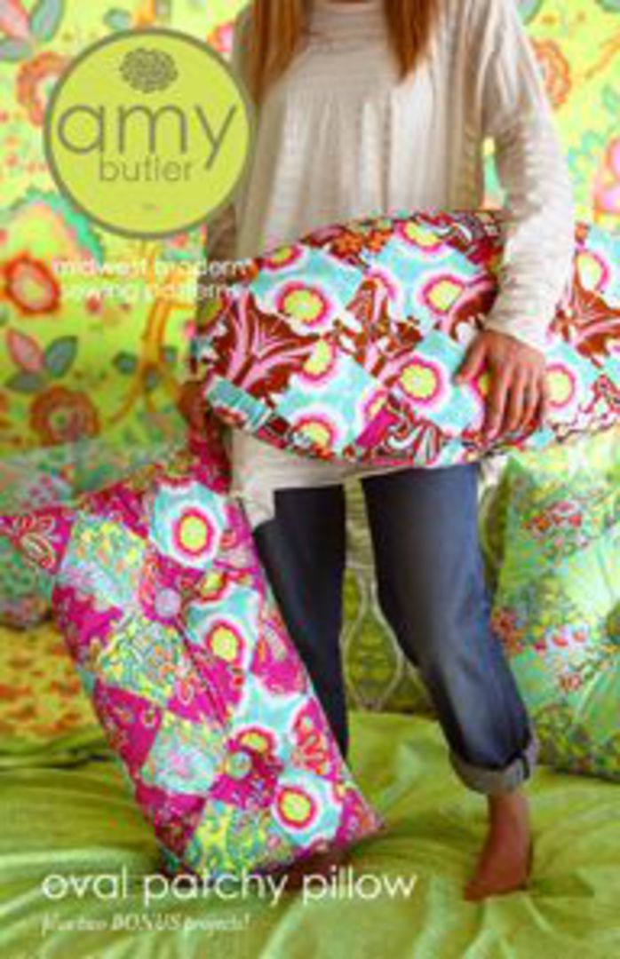 AB047PA OVAL PATCHY PILLOW image 0