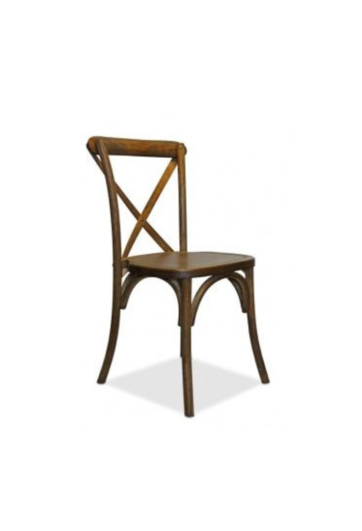 Cross Back Wooden Chair image 0