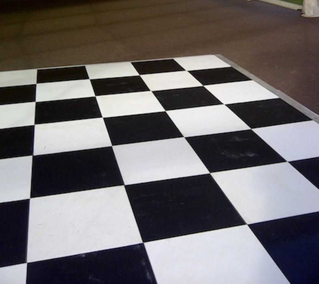 Black & White Dancefloor 8m x 4m image 0