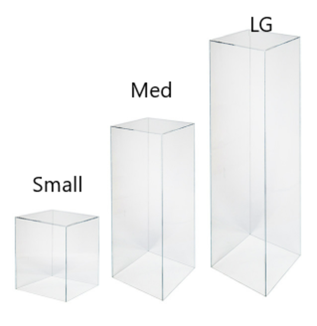 Clear Plinth - SMALL 285×285mmH image 0