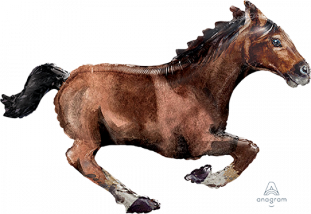 Foil Horse supershape helium filled (101cm) image 0