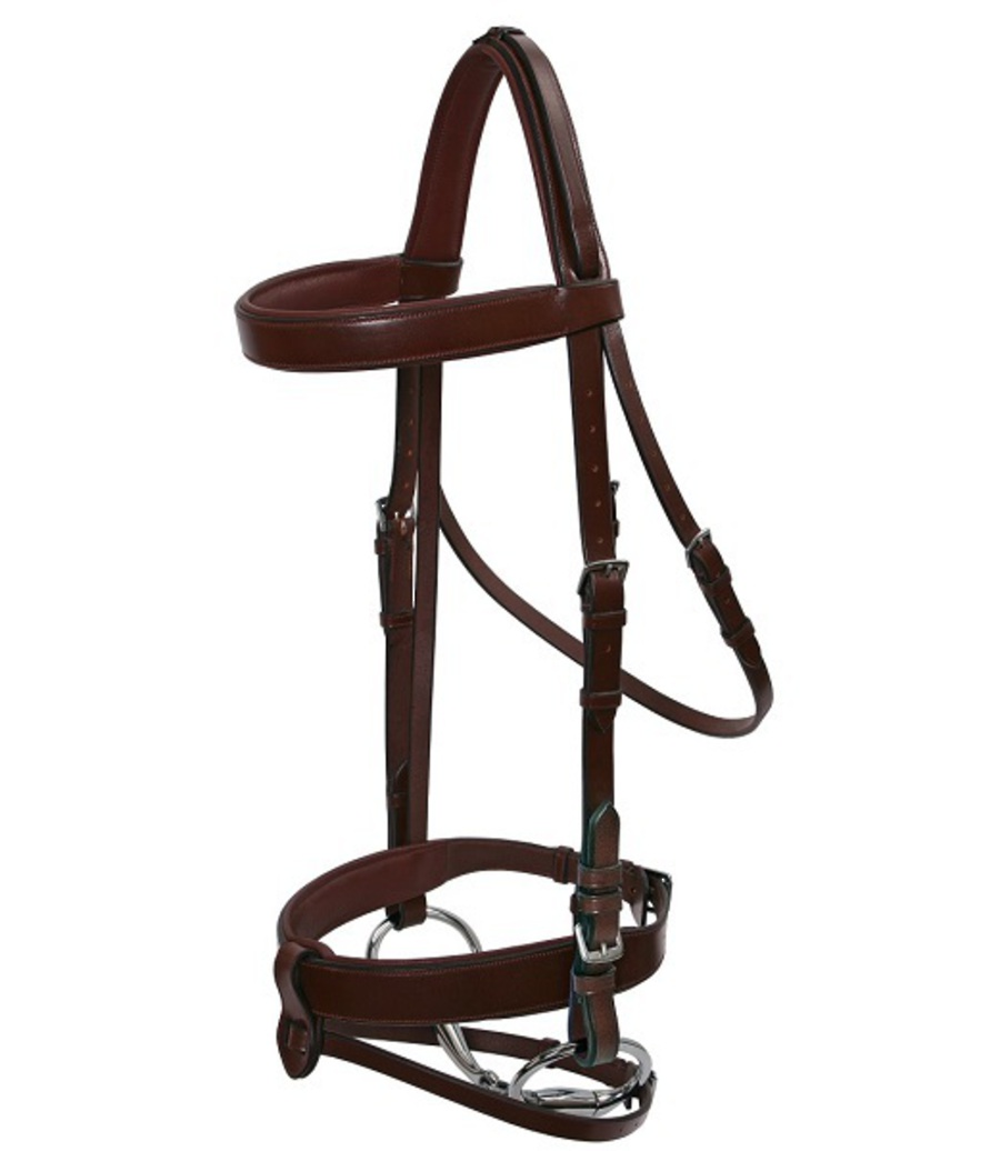 Platinum Wide Padded Hunt Bridle image 0