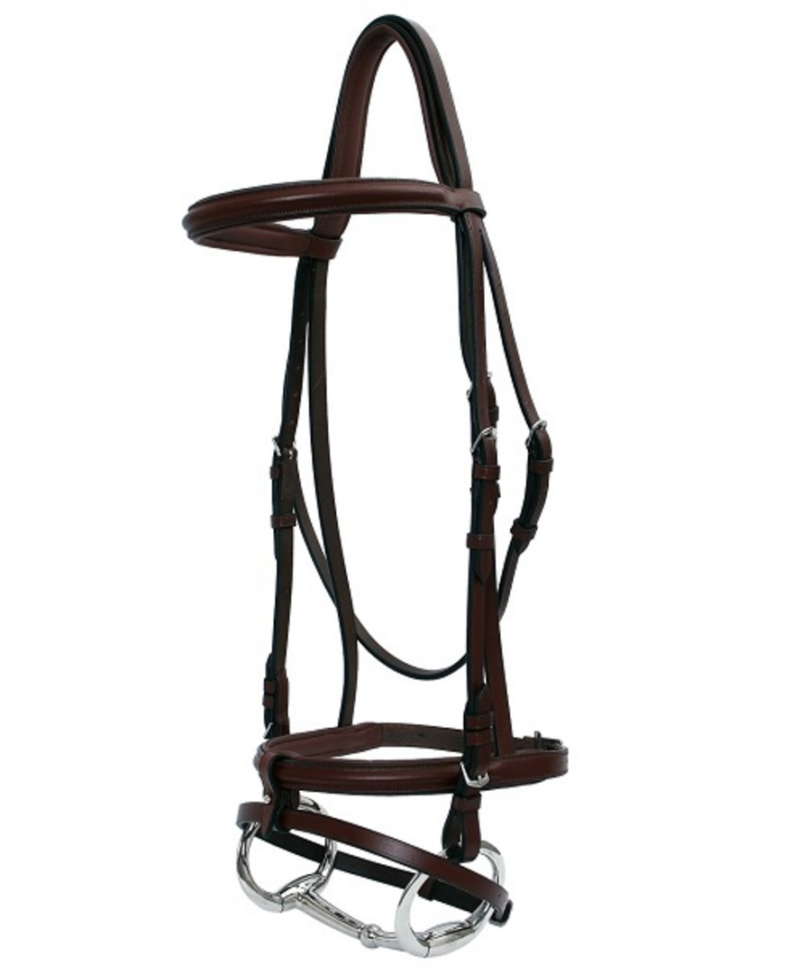 Platinum Raised Padded Hanoverian Bridle image 1