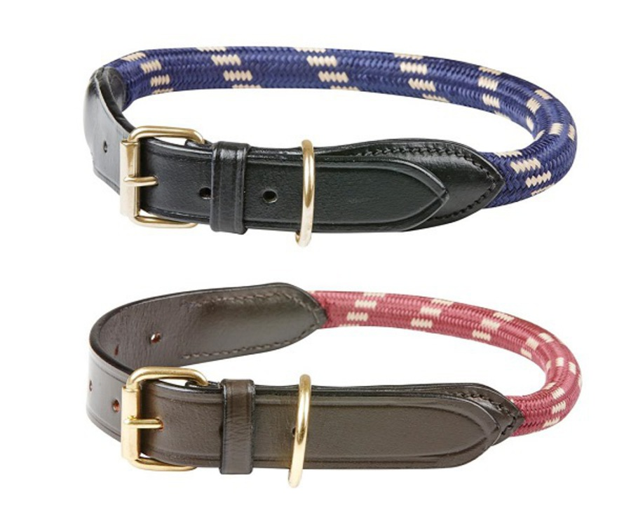 Weatherbeeta Rope Leather Dog Collar image 0