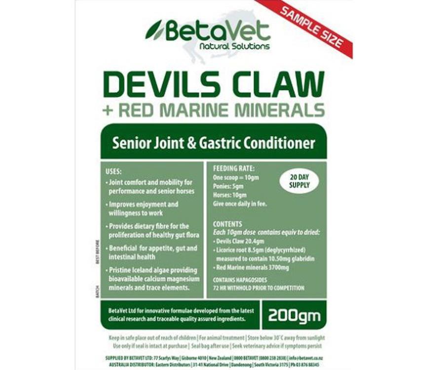 Betavet Devils Claw + Red Marine Minerals image 0