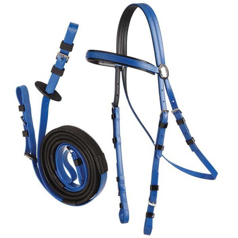 Zilco Stainless Steel Race Bridle & Buckle Rein Set image 0