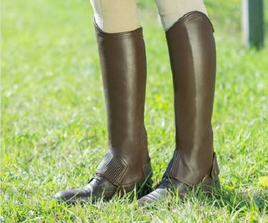 Horze Leather Half Chaps image 3
