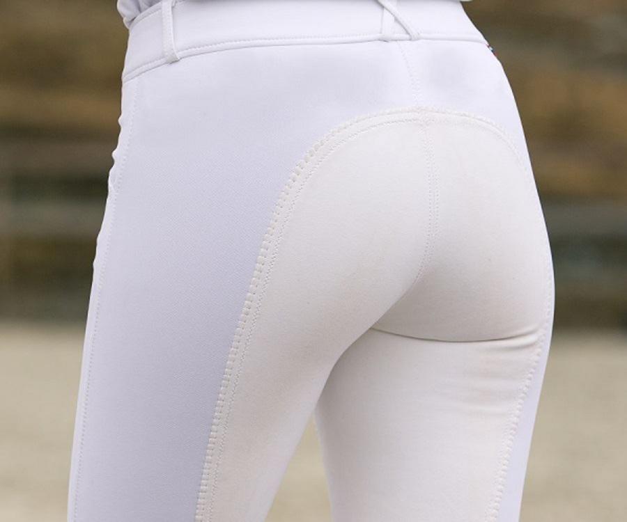 Horze Grand Prix Ladies Leather Full Seat Breeches image 4
