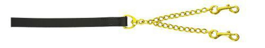 Flair Leather Show Lead - Brass Coupling Chain image 0