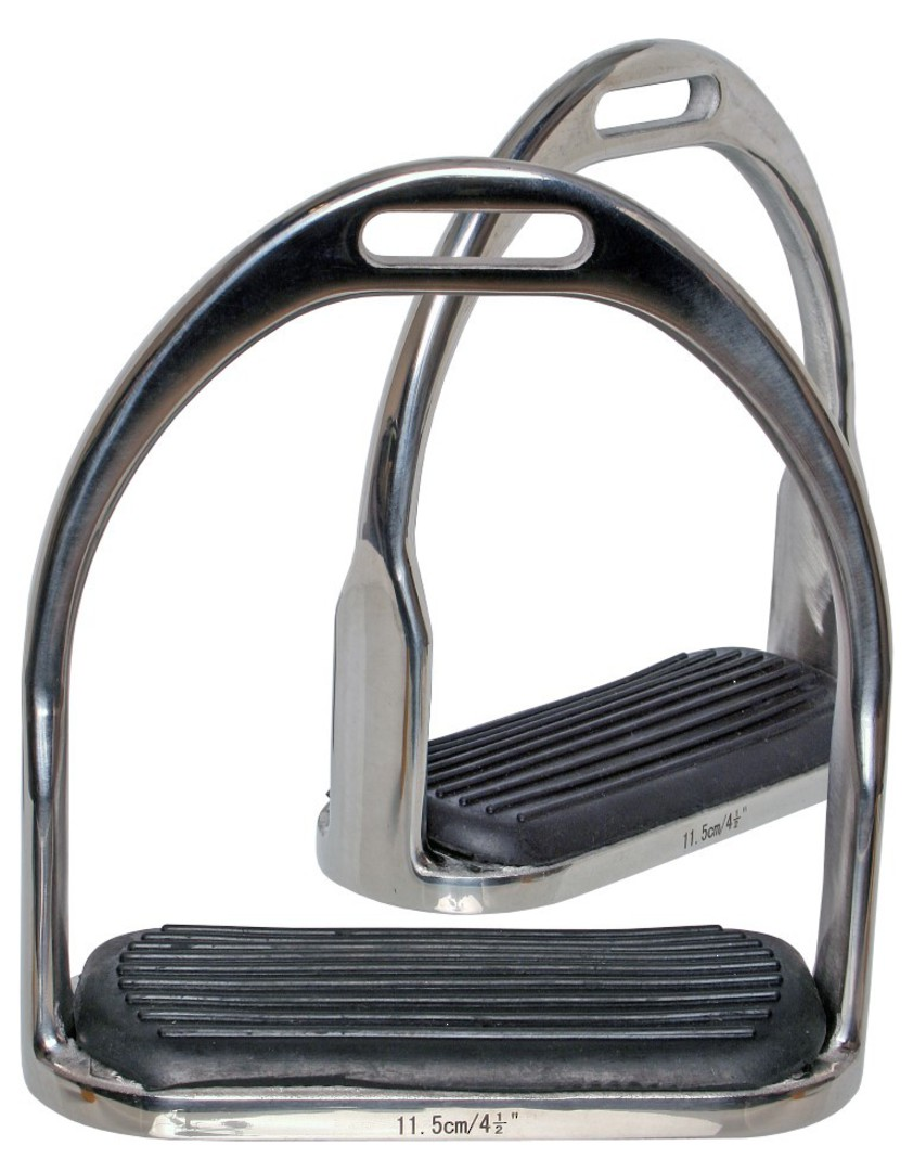 Bluetag SS Stirrup Irons with Treads image 0
