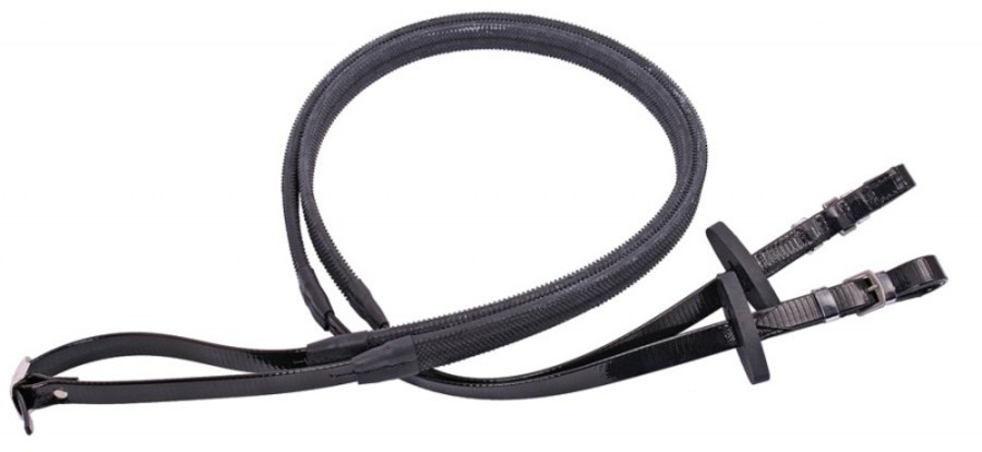 Flair Billet End Rubber Grip Reins image 0