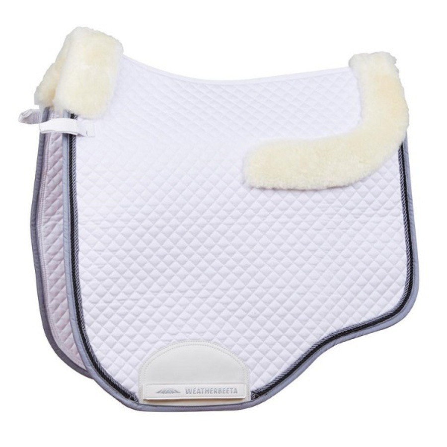 Weatherbeeta Euro Shaped Sheepskin Dressage Saddle Pad II image 0