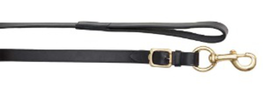 Aintree Leather Lead/Solid Brass Snap image 0