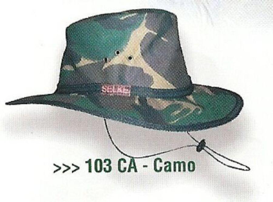 Selke Camo Oilskin Hat image 0