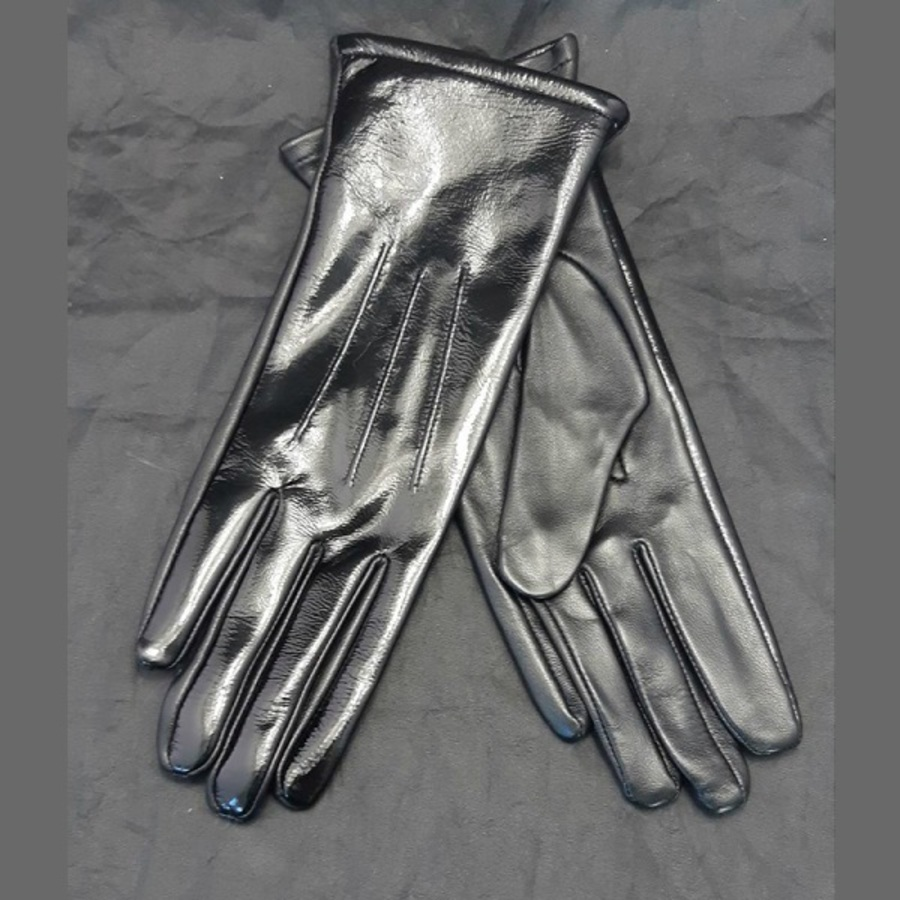Hurlford Elite Patent Leather Gloves - Adults image 0