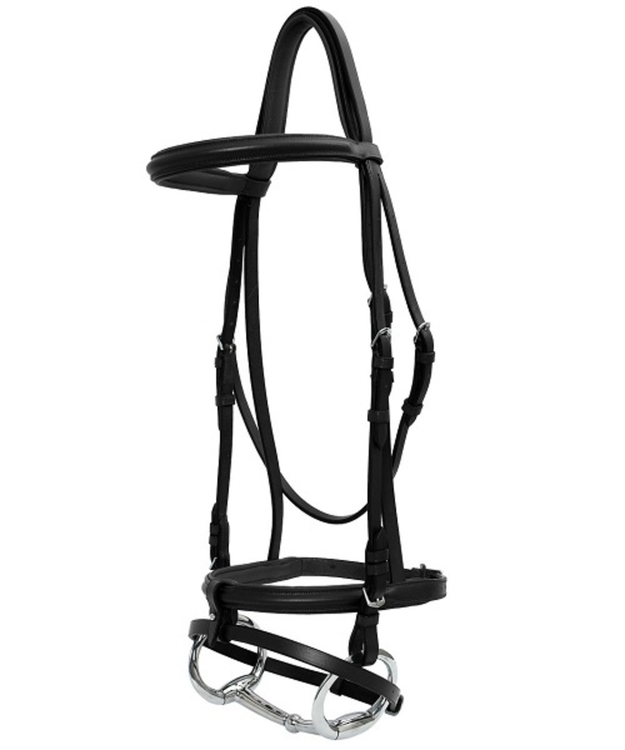 Platinum Raised Padded Hanoverian Bridle image 0