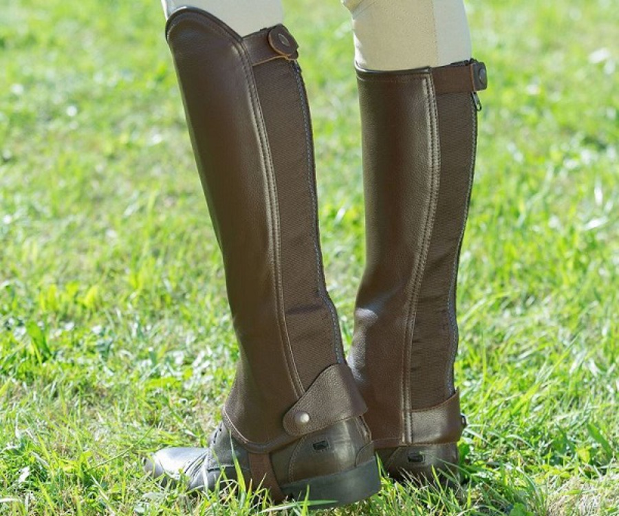 Horze Leather Half Chaps image 2