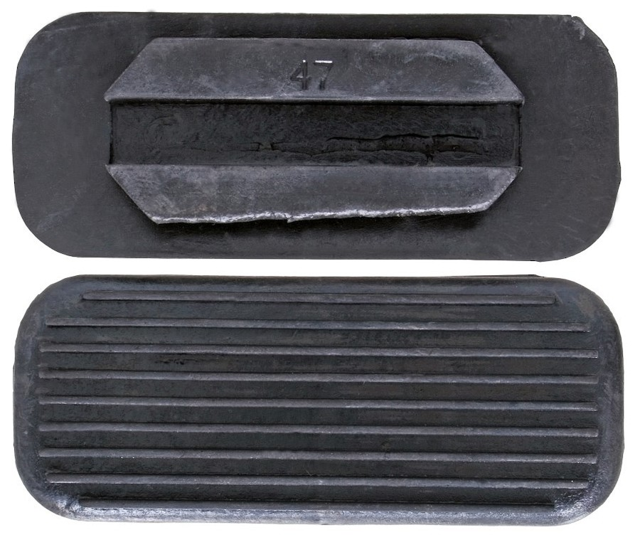 Blue Tag Black Rubber Treads image 0