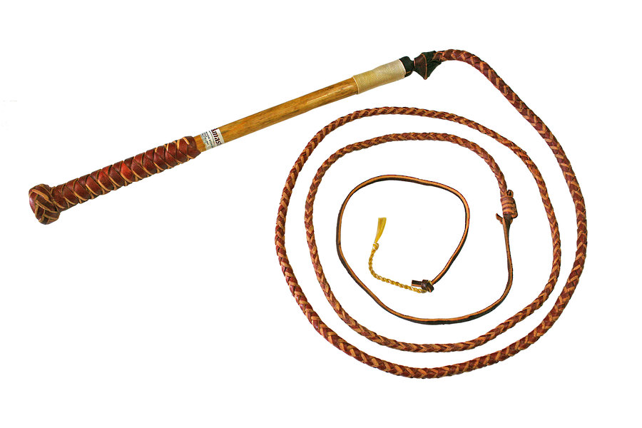 Red Hide Stock Whip 7 Foot image 0