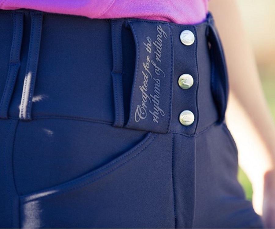 Horze Desiree Ladies' Leather Full Seat Breeches image 2