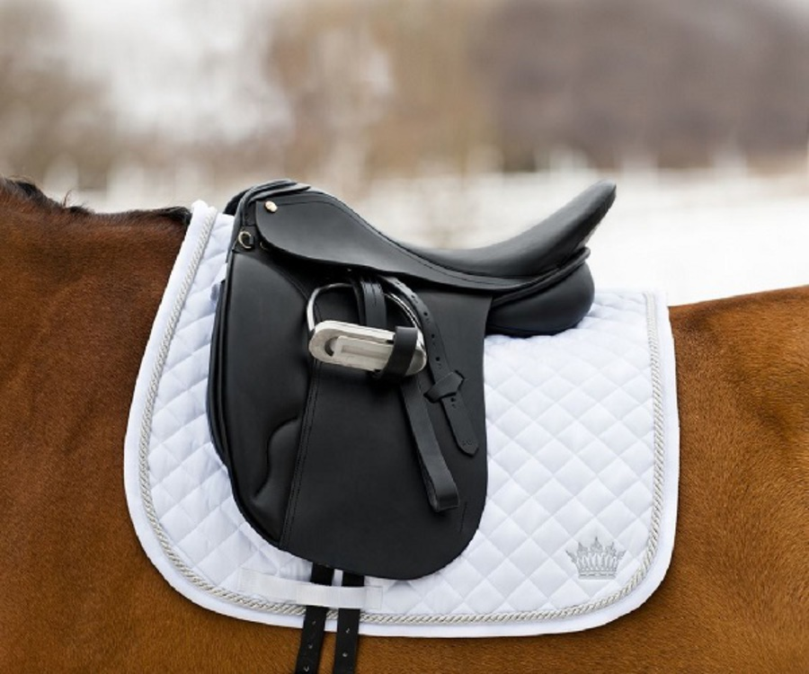 Horze Silver-Cord Dressage Saddle Pad image 0