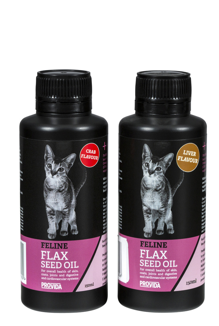 Feline Flax Seed Oil : Crab or Liver flavour image 0