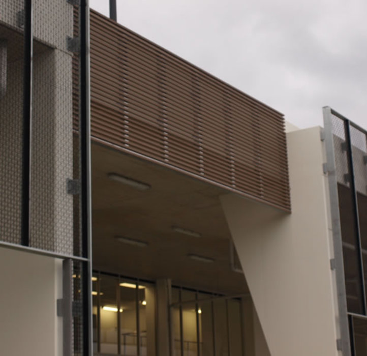 building cladding on the wall