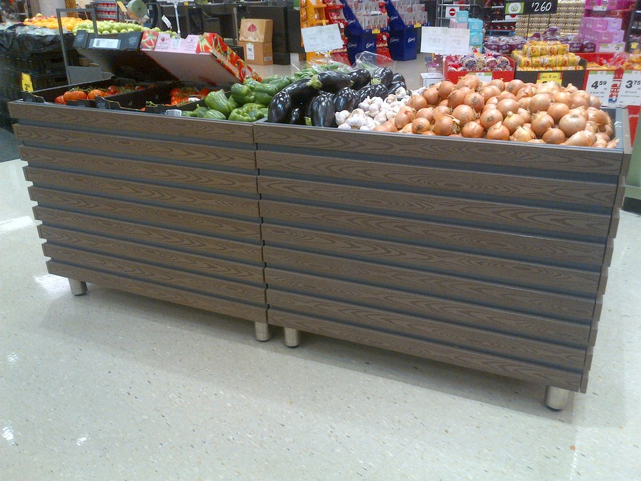 exterior wall cladding panels for fruits and vegetables