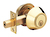 Click to swap image: Double Cylinder Deadbolt Lock Polished Brass