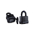 Click to swap image: Weatherproof Resettable Laminated Combination Padlock RL40W Black
